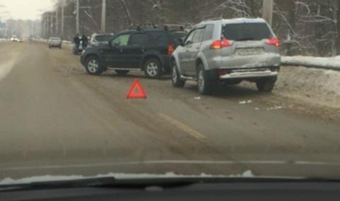 В Уфе столкнулись сразу четыре автомобиля