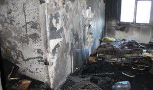 В Сипайлово в Уфе загорелась квартира