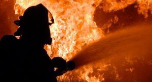 В Уфе прошлой ночью горел автосервис