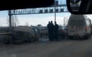 ДТП в Уфе по дороге в аэропорт 20 марта