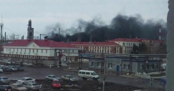 В Салавате на нефтяном предприятии горел резервуар