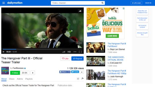 Роскомнадзор заблокировал видеосервис Dailymotion в России